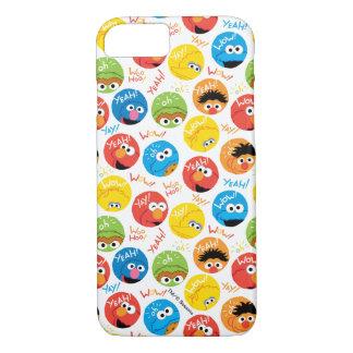Coque iPhone 8/7 Motif de caractère de cercle de Sesame Street