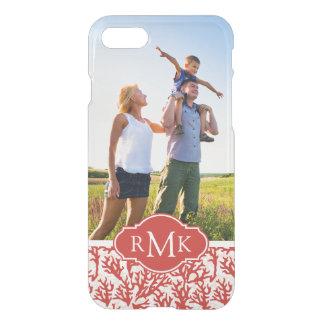 Coque iPhone 8/7 Motif | de corail rouge votre photo et monogramme