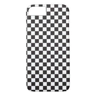 Coque iPhone 8/7 Motif de damier noir et blanc