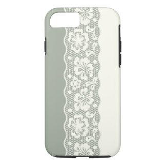 Coque iPhone 8/7 Motif de dentelle, cru 5 de fleur