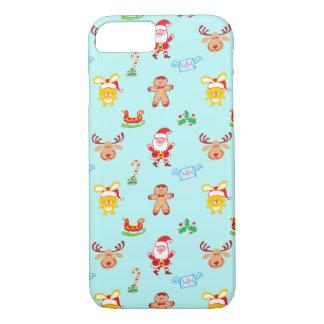 Coque iPhone 8/7 Motif de Noël d'homme de Père Noël, de renne, de