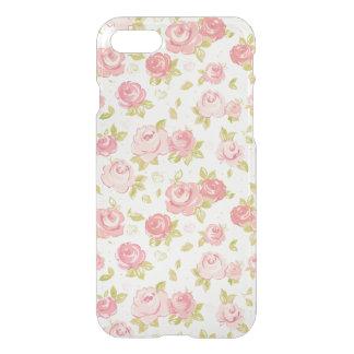 Coque iPhone 8/7 Motif de papier peint d'élégance des roses roses 3