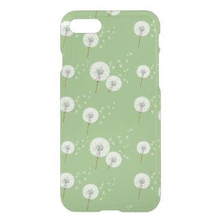 Coque iPhone 8/7 Motif de pissenlit sur l'arrière - plan vert