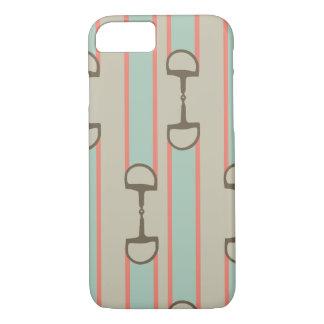 Coque iPhone 8/7 Motif de ruban de peu de cheval de corail et de