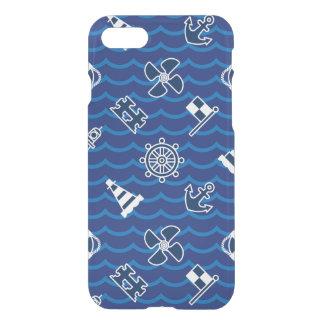 Coque iPhone 8/7 Motif de vagues nautique mignon