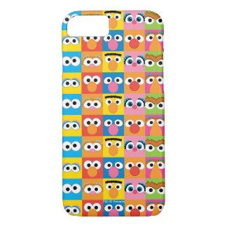 Coque iPhone 8/7 Motif de yeux de caractère de Sesame Street
