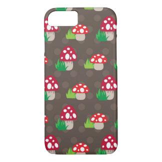 Coque iPhone 8/7 motif d'enfants de champignon