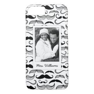 Coque iPhone 8/7 Motif fait sur commande 2 de photo et de moustache