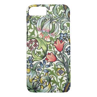 Coque iPhone 8/7 Motif floral de chintz de lis d'or de William