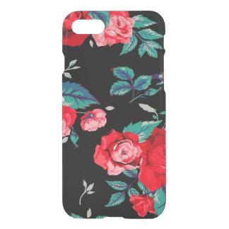 Coque iPhone 8/7 Motif floral sans couture avec le noir de roses