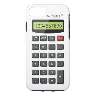 Coque iPhone 8/7 Motif frais de calculatrice d'amusement avec le