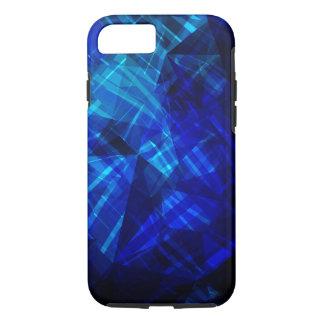 Coque iPhone 8/7 Motif géométrique de glace bleue fraîche