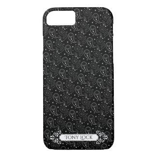 Coque iPhone 8/7 Motif gothique de Paisley de crâne
