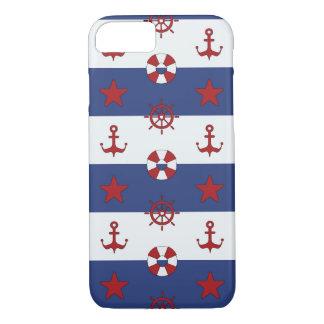 Coque iPhone 8/7 Motif nautique de bannière étoilée