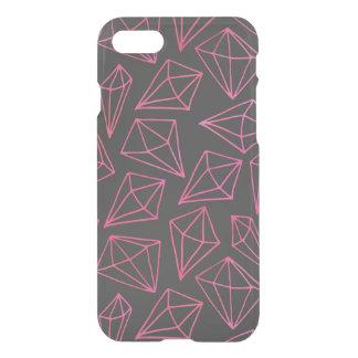 Coque iPhone 8/7 Motif noir et rouge de la vie de diamant
