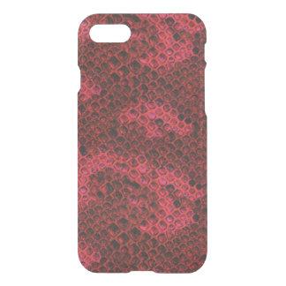 Coque iPhone 8/7 Motif rouge et noir de venin de serpent de peau