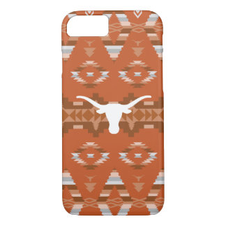 Coque iPhone 8/7 Motif tribal indigène de l'Université du Texas |