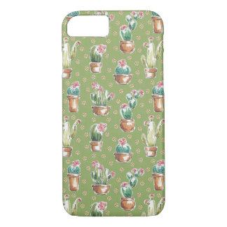 Coque iPhone 8/7 Motif vert d'étape | de fleur de désert