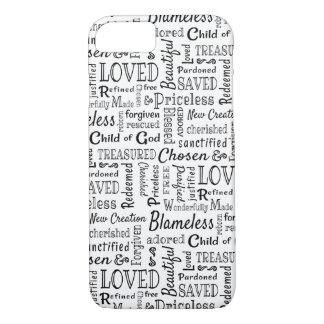 Coque iPhone 8/7 Mots chrétiens de l'affirmation