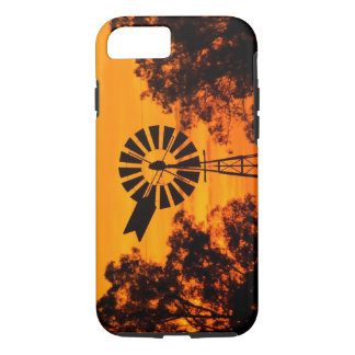 Coque iPhone 8/7 Moulin à vent au coucher du soleil, Australie