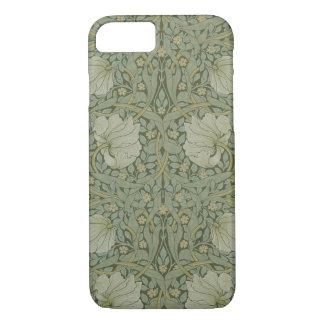 Coque iPhone 8/7 Mouron par le textile floral vintage de William
