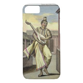 Coque iPhone 8/7 Musicien avec le luth indien, du 'voyage Indes