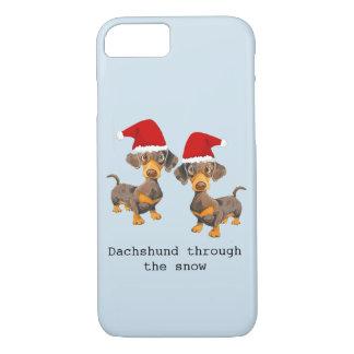 Coque iPhone 8/7 Noël drôle de chien