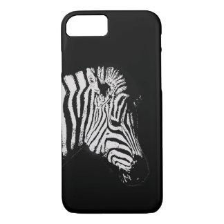 Coque iPhone 8/7 Noir animal de faune de zèbre noir et blanc frais