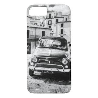 Coque iPhone 8/7 Noir de Fiat 500 + Blanc, Rome, Italie, cas