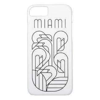 Coque iPhone 8/7 Noir de flamant de Miami