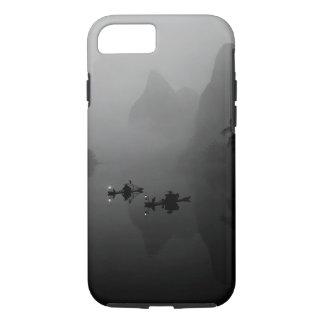 Coque iPhone 8/7 Noir et blanc, Chine, rivière de Li, pêcheur