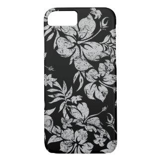 Coque iPhone 8/7 Noir floral hawaïen de Pareau de ketmie