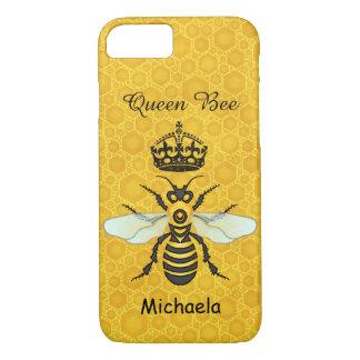 Coque iPhone 8/7 Nom de coutume de couronne de reine des abeilles