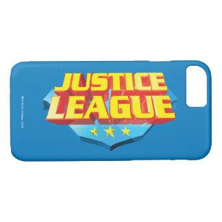 Coque iPhone 8/7 Nom de ligue de justice et logo de bouclier