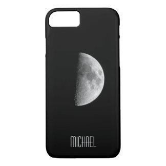 Coque iPhone 8/7 Nom personnalisé par demi-lune fraîche