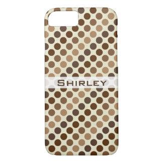Coque iPhone 8/7 Nuances de pois de Brown par Shirley Taylor
