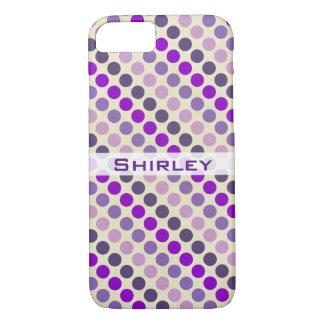 Coque iPhone 8/7 Nuances de pois pourpre par Shirley Taylor