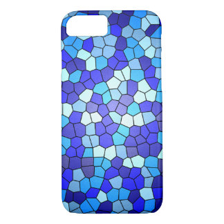 Coque iPhone 8/7 Nuances de verre souillé de bleu par Shirley