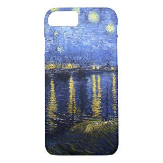 Coque iPhone 8/7 Nuit étoilée de Van Gogh au-dessus du cas de