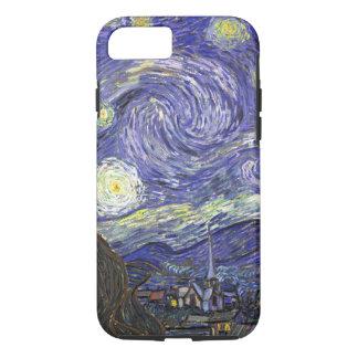 Coque iPhone 8/7 Nuit étoilée de Van Gogh, paysage vintage de