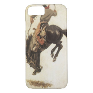 Coque iPhone 8/7 Occidental vintage, cowboy sur un cheval