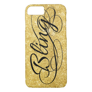 Coque iPhone 8/7 Or scintillant Bling