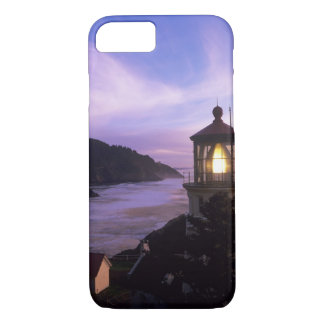 Coque iPhone 8/7 OU, côte de l'Orégon, phare principal de Heceta,