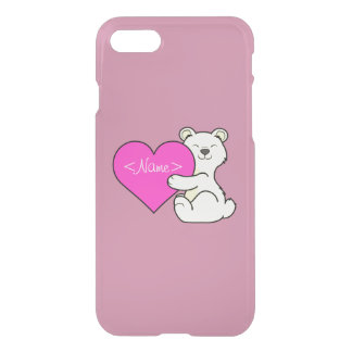 Coque iPhone 8/7 Ours de Kermode de Saint-Valentin avec le coeur