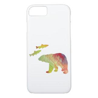 Coque iPhone 8/7 ours et saumon