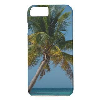 Coque iPhone 8/7 Palmier et plage blanche 2 de sable