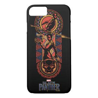 Coque iPhone 8/7 Panthère noire | Okoye et panneau de Nakia