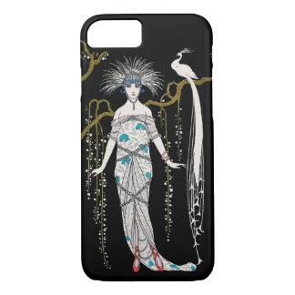 Coque iPhone 8/7 Paon de plat de mode de George Barbier d'art déco