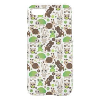 Coque iPhone 8/7 papier peint d'animal de lapin de tortue de cerfs