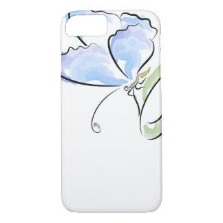 Coque iPhone 8/7 Papillon se reposant sur l'herbe au-dessus du
